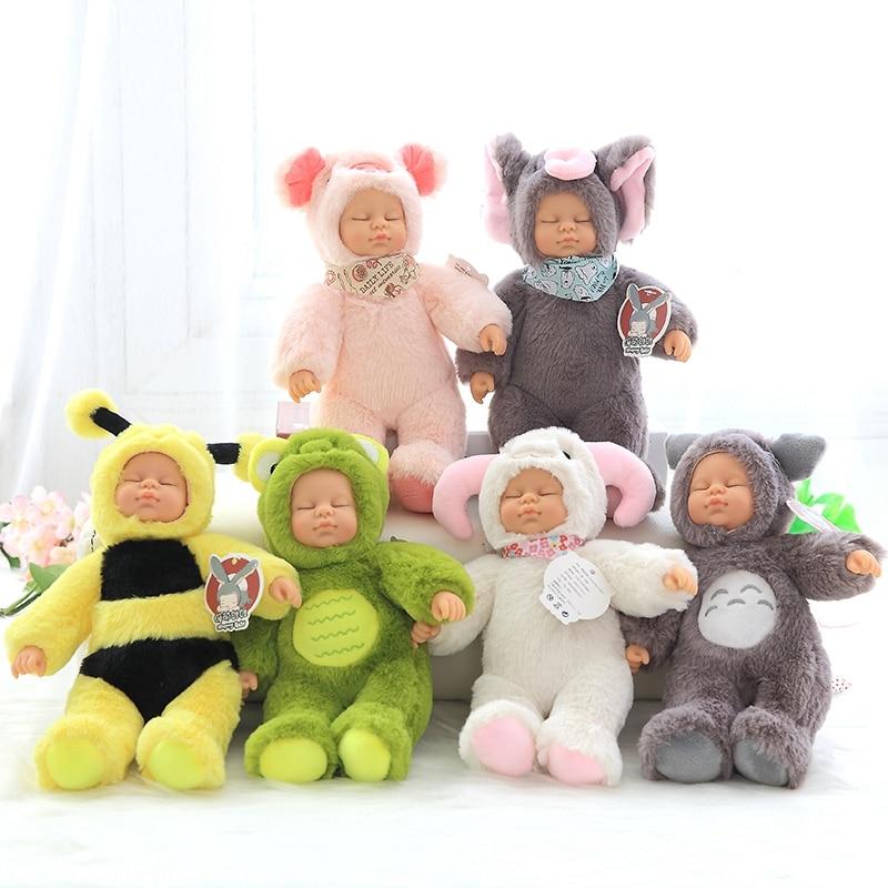 25cm 37cm Kawaii Bjd bebe Sleeping dolls Cosplay Animals stuffed toys for children s gift high