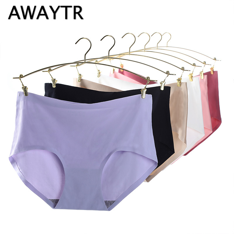 7575f3fb2734 Awaytr nuevo proceso Intimates bragas de algodón para mujer ropa interior  sin costuras MS en la cintura Sexy bragas de algodón Natural