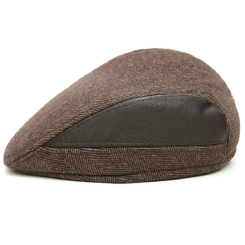 Fashion New Men Wool Solid Color Beret Female Women Male Bonnet Caps Winter All Matched Warm Walking Hat Cap