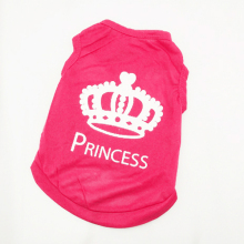 Pet Canine Vest Garments XS S M L T-shirt Cat Pet Princess Crown Shirt Canine Attire