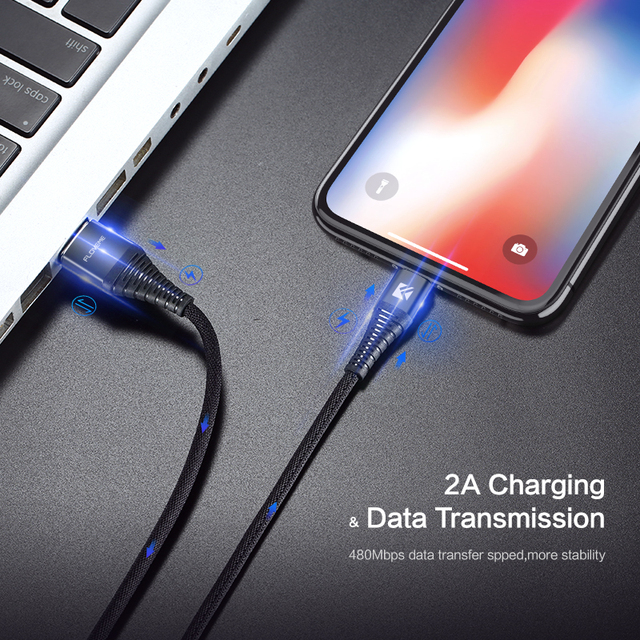 LED USB Lightning Data Fast Charging Cable