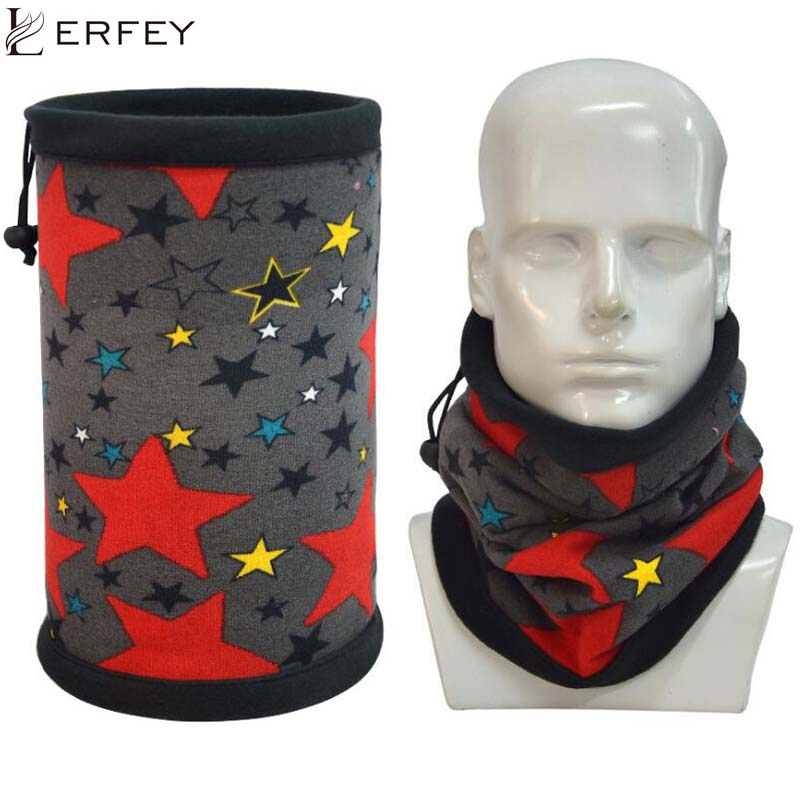 LERFEY Winter Unisex Women Men Sports Thermal Fleece Ring Scarf Snood Neck Warmer Face Mask Beanie Hats 1 PC 3in1 Scarves
