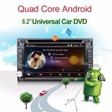 Quad Core autoradio 2 din android radio gps navigation lecteur dvd de voiture 2din volant Arrière Vue Caméra WIFI TV (Option)
