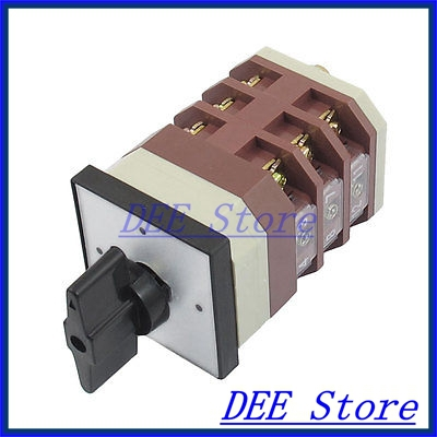 AC 380V 16A 3 Vertical Position Locking Cam Combination Changeover Switch New ac 380v 3kw ui 380v ith 10a 3 position rotary cam changeover switch