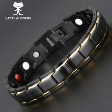 Маленькая лягушка для мужчин женщин здоровый магнитный браслет титан сталь мощность терапии магниты браслеты любителей подарок 10087 10089