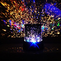 Nuevo Colorida Romántica Inicio Bebés Niños LED Night Lights Starry Sky Estrellas Cosmos Maestro Proyector de La Lámpara de La Linterna