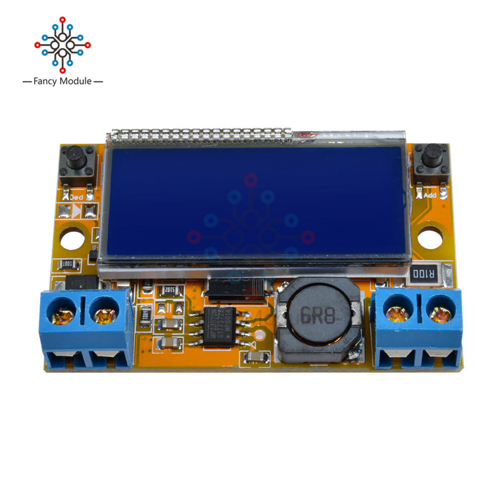 Dc Adjustable Step Down Power Supply Module Voltage Current Lcd 0 20v At 1a Liquid Crystal Displays 5 32v With Acrylic Case In Regulators Stabilizers From