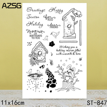 AZSG Little bird Clear Stamps/Seals For DIY Scrapbooking/Card Making/Album Decorative Silicone Stamp Crafts