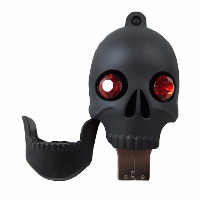 Diamond Skull Heads pen drive USB stick
