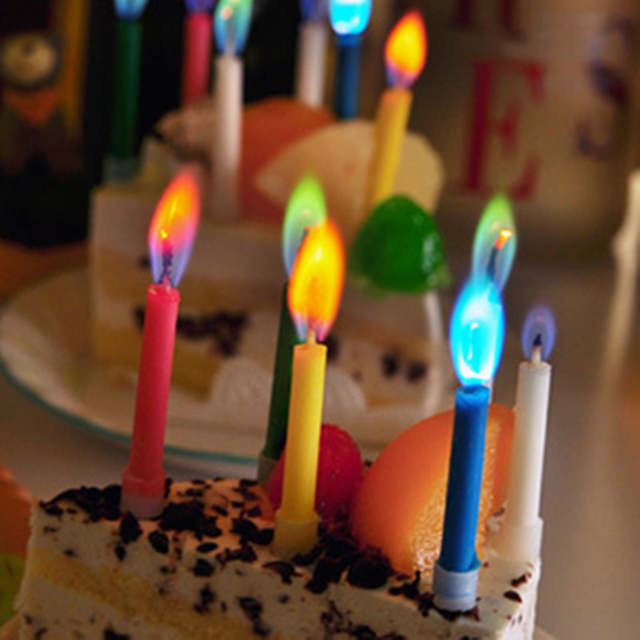 Environmental Protection Colored Safe Flames Birthday Cake Candles For Baby Shower Party Wedding