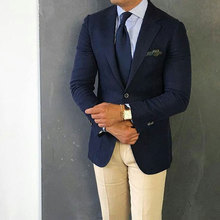 Custom Made Navy Blue Men Suits for Wedding Mens with Pants Plus Size 2Piece Slim Terno Masculino Trajes Costume Homme