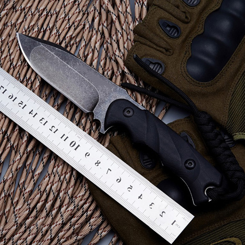 BGT M3 Tactical Fixed Blade Straight Knife With D2 Blade Full Tang G10 Handle Survival Camping