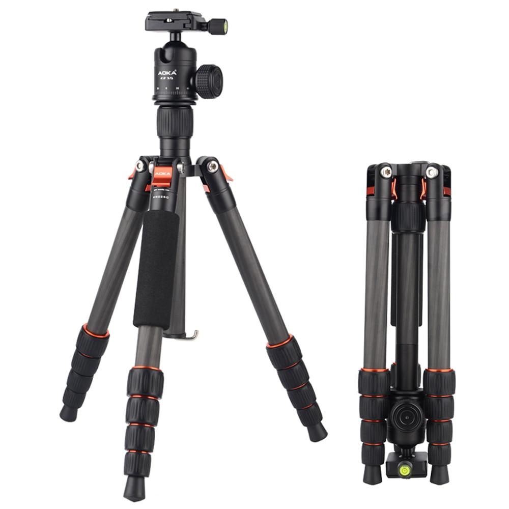 Professional Carbon fiber Tripod Monopod KR225C Pro For DSLR Camera Portable Traveling Tripod Max load to