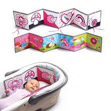 Bebé de la alta calidad móvil Cloth libro cuna cama alrededor suave felpa educativa temprana cuna libro juguetes