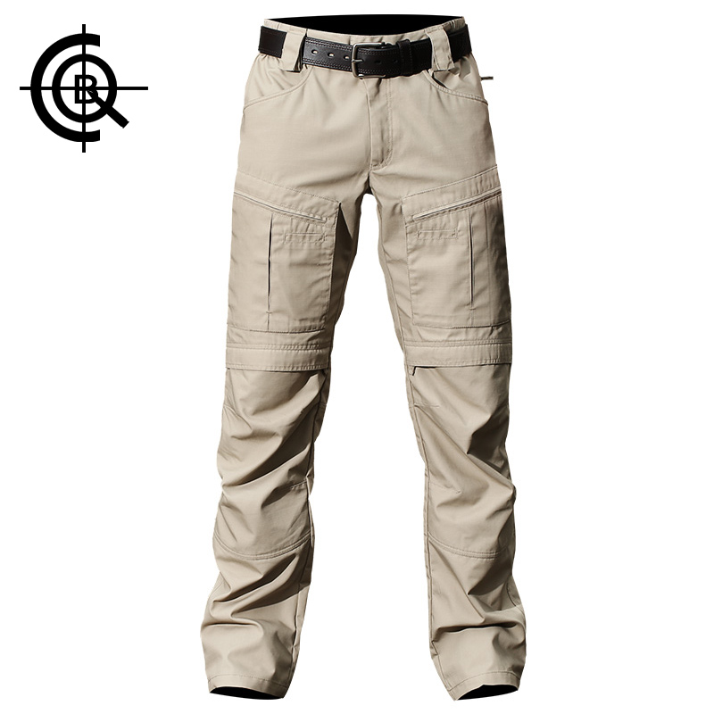 CQB Outdoor Men's Hiking Trekking Hiking Trousers Multi Pocket Overalls Tactical Military Training Pants Big Size CKZ0575