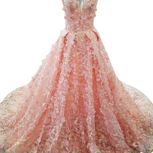 SSYFashion New Luxury Evening Dress High-end Banquet Pink