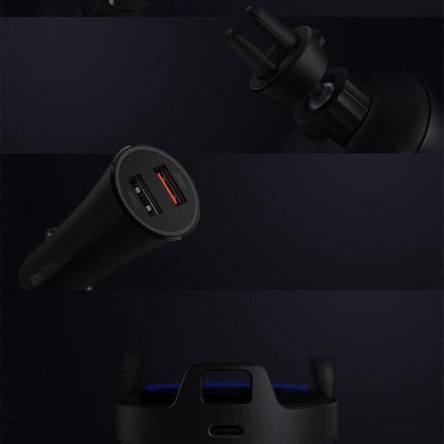 Soporte y cargador inalámbrico Xiaomi para coche de 10W 6