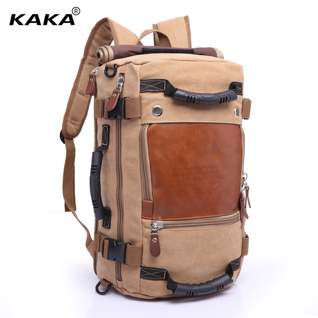 KAKA Brand Stylish Travel Large Capacity Backpack Male Luggage Shoulder Bag  Computer Backpacking Men Functional Versatile cb025437a4f6b
