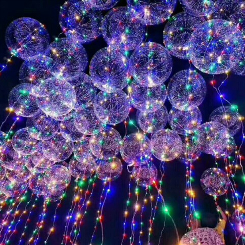 Hot 18inch LED String Lights Flasher Lighting Balloon Children Kids Wave Ball Light Up Toys Christmas Wedding Party Decorations