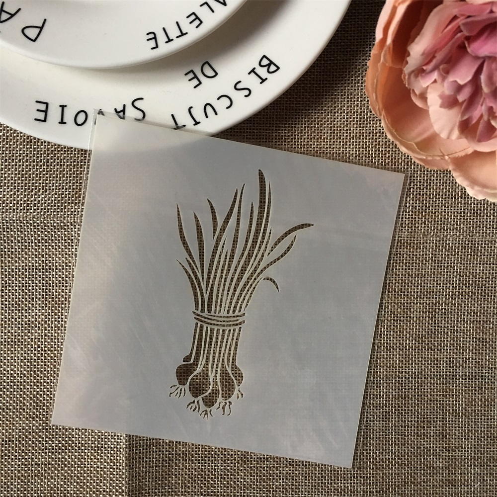 Hot 13cm Onion DIY Layering Stencils Wall Painting Scrapbook Coloring Embossing Album Decorative Card Template