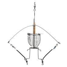 Fishing Feeder Automatic Tackle Multi Functional Launcher Trap Spring Cage Hook