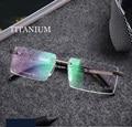 Lentes Titanium sin rebordes de metal masculino hombres de moda diseñador de la marca marco de las lentes lunette de vue receta