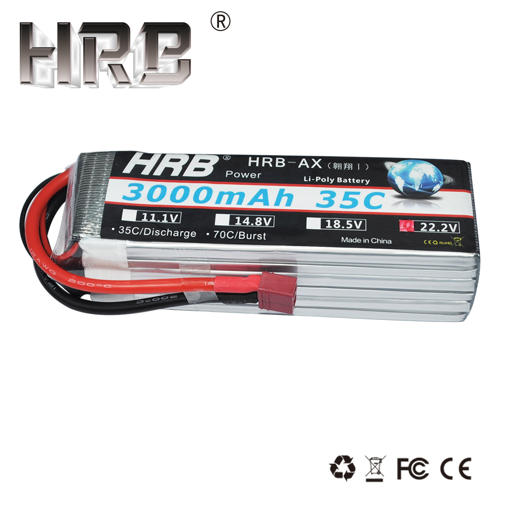 HRB Lipo Battery 6S 22.2V 3000mAh 35C Helicopter T Deans XT60 XT90 EC5 TRX For Hubsan H501s FPV Airplane Drone Boat Car RC Parts