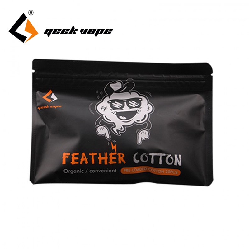 1pcs Geekvape Feather Cotton E-cigarette vape accessories Organic Cotton for RDA rta RDTA Tank vape cotton vs cotton bacon image