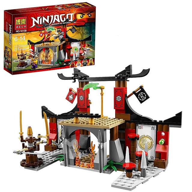 BELA 214 unids Anime Ninjagoed Lucha para el Jade Hoja en Enfrentamiento Arma compatible con Legoe Dojo Ninja Bloques de Construcción juguetes