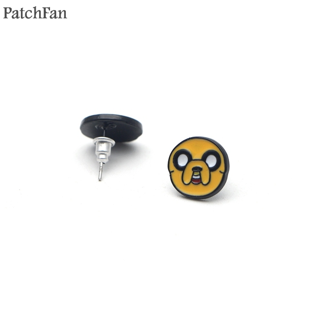 Patchfan Adventure Time Cartoon Creative Design For Earrings Party Favors Jewelry Gifts Girlfriend Birthday Presents A1419