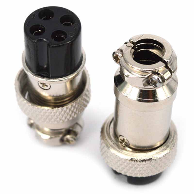 5 Pairs GX16 Aviation Plug 4 Pin Metal Male Female Socket Panel Connector ac 250v 15a 25mm dustproof metal male female aviation plug connector joint free shipping
