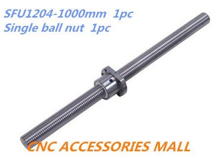 1 pc 12mm vis à billes SFU1204 longueur 1000mm plus 1 pc seul écrou à billes pour pièces de CNC