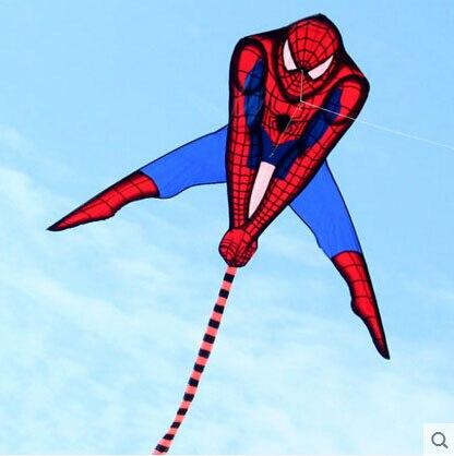 Высокого качества воздушный змей Человек-паук 20 шт./лот с змеиным катушком Радуга хвосты дети воздушные змеи игрушки aquilone эскиз бумажного змея