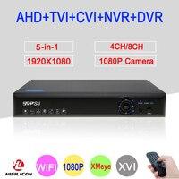 Blue Ray Xmeye 2MP CCTV Camera 1080P Full HD 8 Channel 4CH 8CH 5 In 1