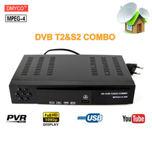 Hot sale DVB T2 S2 Digital Satellite Receiver Combo H 264 FTA HD 1080P Digital TV