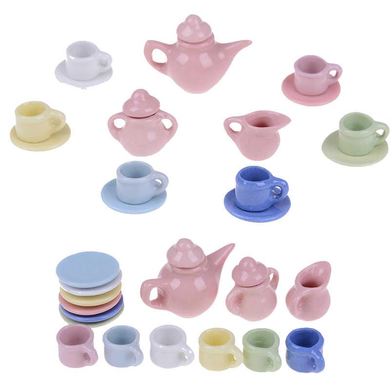 15 шт./компл. 1/12 кукольный домик миниатюры столовая посуда фарфоровая чайная чашка набор кухонные принадлежности