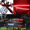 Carro-styling, Tiguan luz Quebra, 2009 ~ 2015, levou luz, Livre O navio! 2 pcs, Tiguan luz traseira, carro-detector; Tiguan luz de nevoeiro, cromo, Touareg