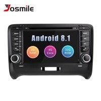 Автомобильный мультимедийный плеер 2 Din Android 8,1 для AUDI TT MK2 8J 2016 2007 2008 2009 2010 2011 2012014 gps навигации Системы Радио DVD