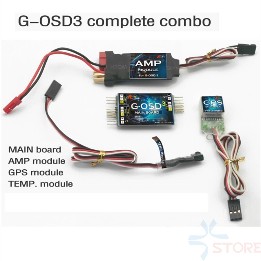 AEO OSD /G-OSD3 Set/ OSD System/ FPV Display System/ Temp Mould and AMP Mould included with GPS Current Temperature Sensors fpv s2 osd barometer version osd board read naza data phantom 2 iosd osd barometer with 8m gps module