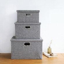 Convenienct Non-woven Bamboo Laundry Accessories Organizer Storage Box