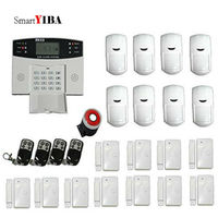 SmartYIBA Free Shipping Wireless/wired Phone SIM GSM Home Burglar Security GSM Alarm System English Russian Spansih