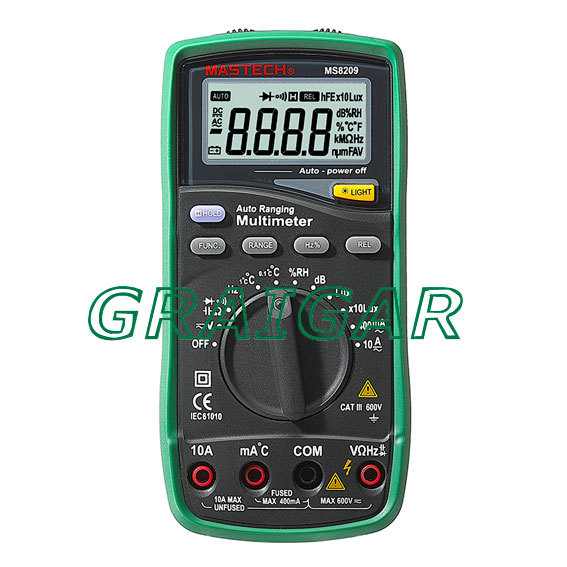 MS8209 5 In 1 Autorange Digital Multimeter with free shipping