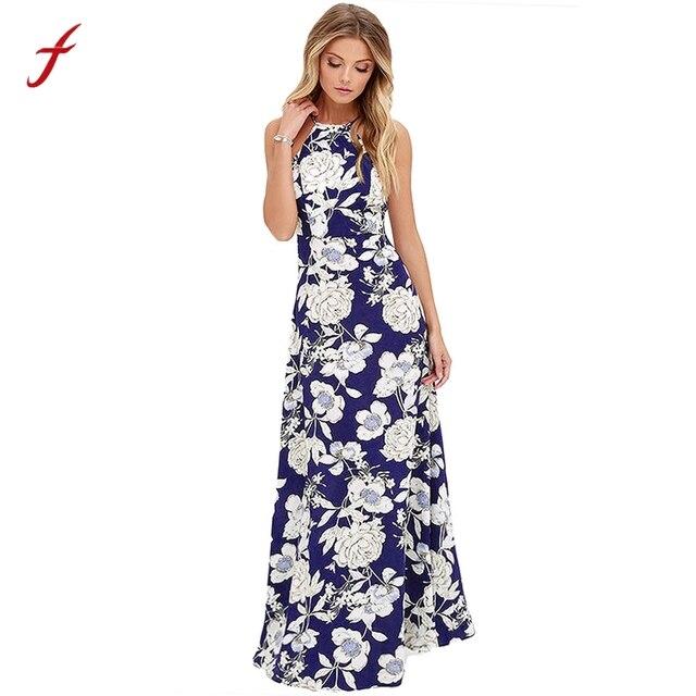promoción gran descuento bueno € 8.2 20% de DESCUENTO|Las mujeres verano largo Boho Maxi vestido de fiesta  de playa vestido de verano 2019 vestidos de las mujeres elbise robe femme  ...