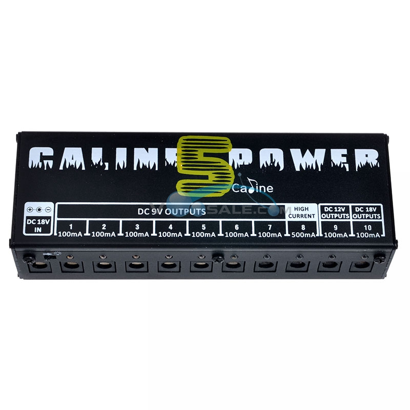 Image 2 - Caline CP 05 Effect Pedal Power Supply High Frequency 10 Isolated Outputs (9V, 12V, 18V) Voltage Protection Guitar Pedal Power-in Guitar Parts & Accessories from Sports & Entertainment