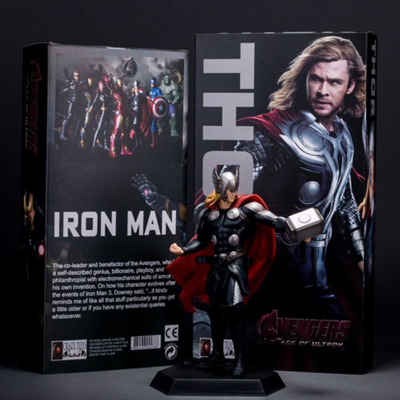 Super Hero The The Avengers Thor PVC Action Figure Collectible Model Toy Action Figure 2set/lot 23cm high quality the avengers thor cosplay hammer thor s hammer action figure super hero collection toy ems free shipping