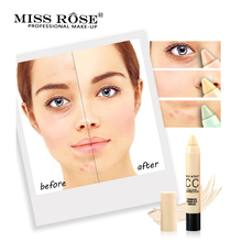 MISS ROSE Brand Face Stick Concealer Makeup Acne Removing Waterproof Brighten Base Natural Foundation Concealer Make up miss rose makeup concealer full cover face foundation cream natural brighten contouring cosmetics women beauty face base makeup