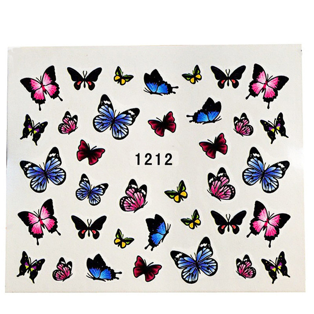 SWEET TREND 50sheets Mixed Water Transfer Nail Art Stickers