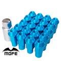 Mofe 20PCS JDM 50mm Aluminum Racing wheels lug Nuts P1.5 Blue HIGH QUALITY