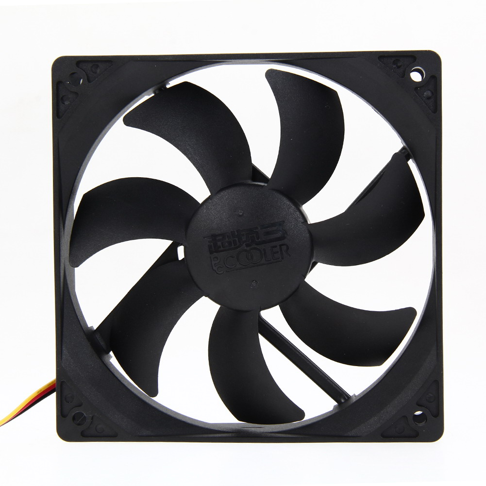 Mute PC Computer Case 3/4 Pin Cooling Fan with Screw Pad Hydraumatic Cooler for PC CPU 120mm*120mm Black aerocool 15 blade 1 56w mute model computer cpu cooling fan black 12 x 12cm 7v