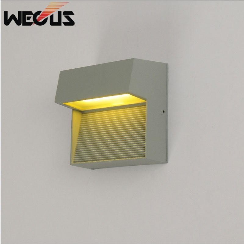 Europe Waterproof Led Outdoor Wall Lamp Porch Corridor Backyard Gatewey Fence Garden Light Decorative Lighting WKS-OWL63
